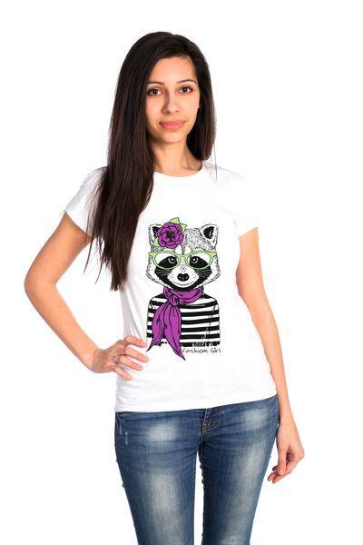 Енот футболка женская
